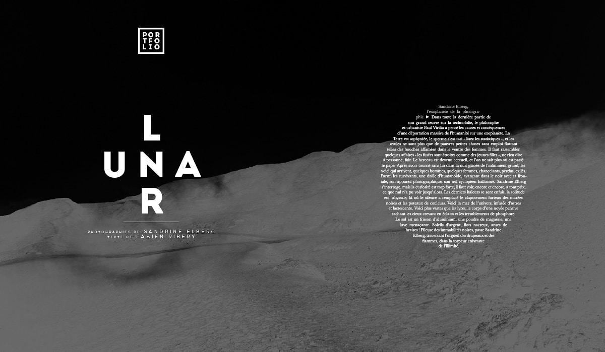 Sandrine Elberg - Lunar - Portfolio